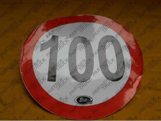 Наклейка 100KM/H FI200