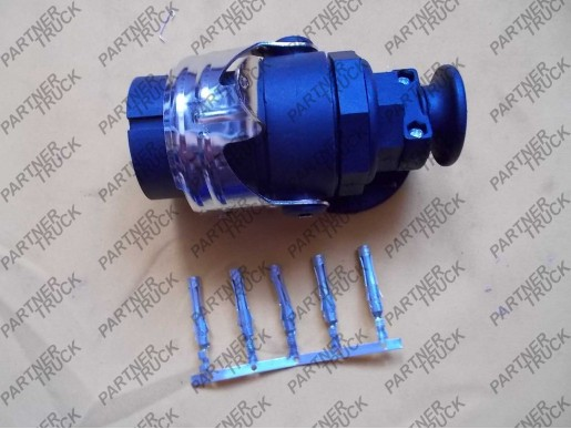 Вилка электрическая ABС 24v 5-пиновая (универсальная)