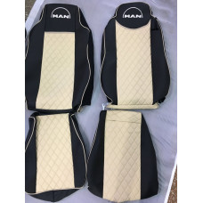 Кпл чехлов для сидения MAN TGX 2007-20014 Бежевые CAPALI