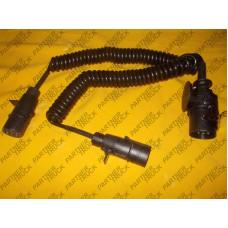 Кабель спиральный сдвоенный 4м 15pin алюминий