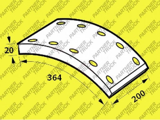 Накладки тормозные BPW Fomar 19902/2R