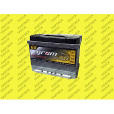 Акумулятор 65ah Grom Premium  R+ 650A