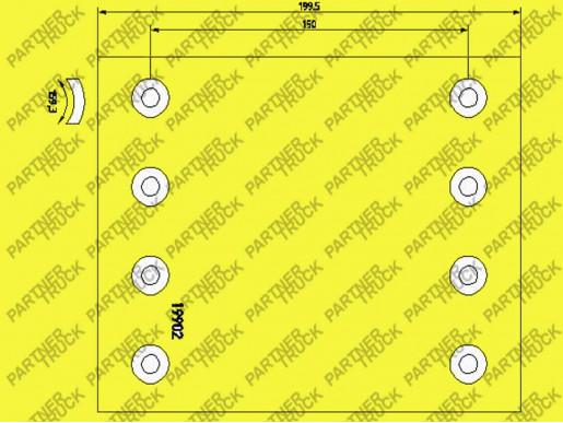Накладки  BPW 360*200 TEXTAR