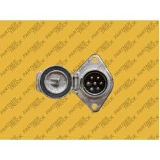 Розетка электрическая универсальная 24V 7 pin N (метал)
