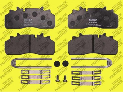 Дисковые тормозные колодки DAF LF 55;