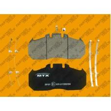 Колодки тормозные MTX-29131