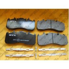 Тормозные колодки компл. задние MTX-29173