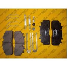 Тормозные колодки к-т, пд/зд DAF LF 55; GIGANT PROTEC; SAF